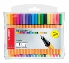 Stabilo Fineliner point 88® Etui, mit 18 Stiften