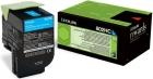 Original Lexmark Toner 802HC 80C2HC0 Cyan