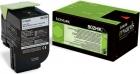 Original Lexmark Toner 802HK 80C2HK0 Schwarz