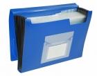 Fächermappen mit 13 Taschen - gedeckte Farben: blau