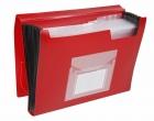 Fächermappen mit 13 Taschen - gedeckte Farben: rot
