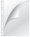 Prospekthülle A4 Öffnung oben/links, 0,08 mm, genarbt, 100 Stück