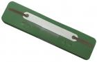 Q-Connect Heftstreifen Kunststoff, kurz - Deckleiste aus Kunststoff, dunkelgrün, 25 Stück