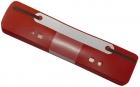 Q-Connect Heftstreifen Kunststoff, kurz - Deckleiste aus Kunststoff, rot, 25 Stück