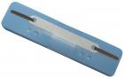 Q-Connect Heftstreifen Kunststoff, kurz - Deckleiste aus Kunststoff, hellblau, 25 Stück