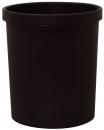 MM Sicherheitspapierkorb, 18 Liter - schwarz, Ø min/max: 250/290 / 330 mm hoch
