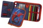 Schüleretui Scooli - Spiderman, gefüllt, 30 tlg., 1 Fach mit 1 Innenklappe
