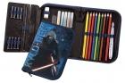 Schüleretui Scooli - Star Wars, gefüllt, 30 tlg., 1 Fach mit 1 Innenklappe