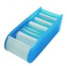Wedo Lernkartei A8 für 500 Karten, inkl. 100 Karten, blau