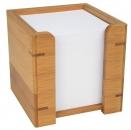 Wedo Zettelbox Bambus braun mit Papier