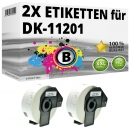 2x Alternativ Brother Adress-Etiketten DK-11201 Label