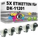 5x Alternativ Brother Adress-Etiketten DK-11201 Label