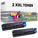 2x XL Alternativ OKI Toner B412 B432 / 45807106 Schwarz