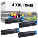 4x XL Alternativ OKI Toner B412 B432 / 45807106 Schwarz