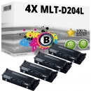 4x Alternativ Samsung Toner D204L Schwarz