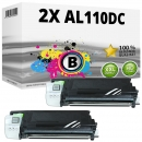 2x Alternativ Sharp Toner AL-110DC Schwarz