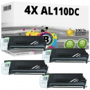 4x Alternativ Sharp Toner AL-110DC Schwarz