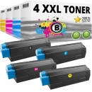 Set 4x Alternativ OKI Toner C5250 C5450 C5510 C5540