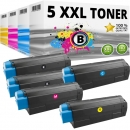 Set 5x Alternativ OKI Toner C5250 C5450 C5510 C5540