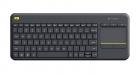 Logitech Tastatur K400 Plus Kabellos Schwarz