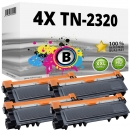 4x Alternativ Brother Toner TN-2320 Schwarz Set