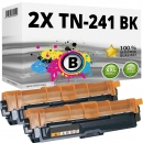 Alternativ Brother Toner TN-241-BK Schwarz Doppelpack