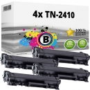 4x Alternativ Brother Toner TN-2410 Schwarz