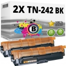 Alternativ Brother Toner Doppelpack TN-242-BK Schwarz