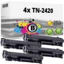 4x Alternativ Brother Toner TN-2420 Schwarz