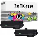 2x Alternativ Kyocera Toner TK-1150 / 1T02RV0NL0 Schwarz
