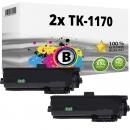 2x Alternativ Kyocera Toner TK-1170 / 1T02S50NL0 Schwarz