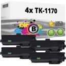 4x Alternativ Kyocera Toner TK-1170 / 1T02S50NL0 Schwarz