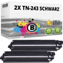2x Alternativ Brother Toner TN-243 BK Schwarz