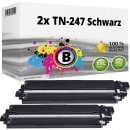 2x Alternativ Brother Toner TN-247 BK Schwarz