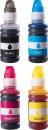 Set 4x Alternativ Canon Tinte GI-490 Mehrfarbig