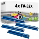 4x Alternativ Panasonic Thermo-Transfer-Rolle KX-FA52X