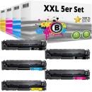 Set 5x Alternativ HP Toner 203X CF540X CF541X CF542X CF543X