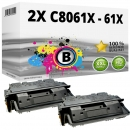 Sparset 2x Alternativ HP Toner C8061X / 61X Schwarz