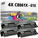 Sparset 4x Alternativ HP Toner C8061X / 61X Schwarz
