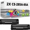 Sparset 2x Alternativ HP Toner CE285A / 85A Schwarz