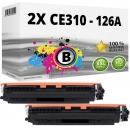 Alternativ HP Toner 126A CE310A Schwarz Doppelpack