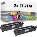 2x Alternativ HP Toner 17A / CF217A Schwarz