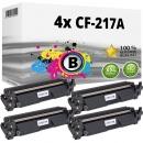 4x Alternativ HP Toner 17A / CF217A Schwarz