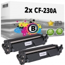 2x Alternativ HP Toner 30A / CF230A Schwarz