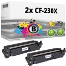 2x Alternativ HP Toner 30X / CF230X Schwarz