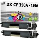Set 2x Alternativ HP Toner CF350A / 130A Schwarz