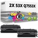 Sparset 2x Alternativ HP Toner Q7553X / 53X Schwarz