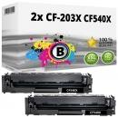 2x Alternativ Toner 203X CF540X Schwarz