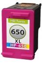 Refill HP Patronen 650 XL CZ102AE Tri-Color