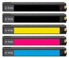 Set 5x Alternativ HP Patronen 913 XL Mehrfarbig mit Chip